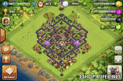 Аккаунт Clash of Clans ТХ8 50-80ур